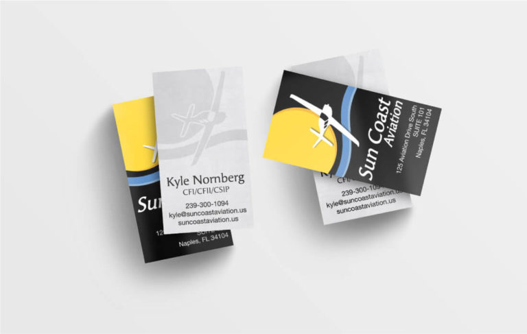 Sun Coast Aviation Business Cards