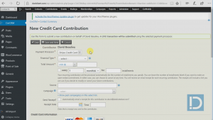 how to enter a manual credit card donation for a contact in civicrm